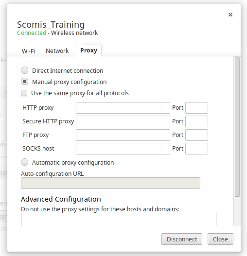How to configure your Google Chromebook to use a Proxy Server