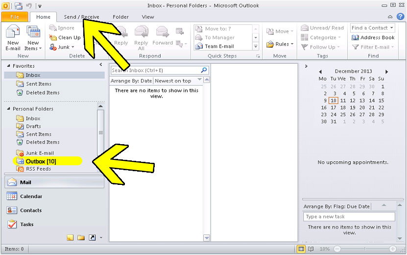 how to find outbox in outlook