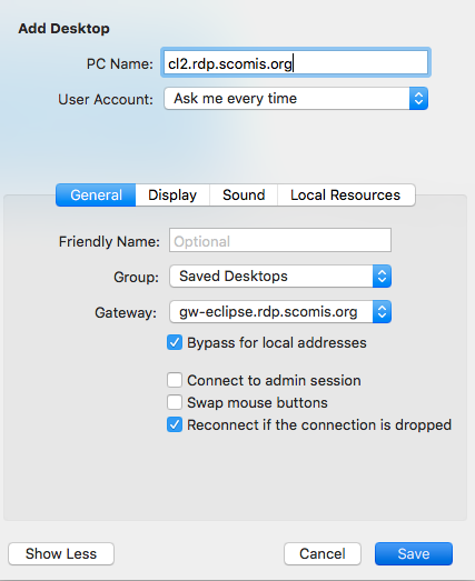 Connecting to the Hosted Application Service for SIMS using an Apple