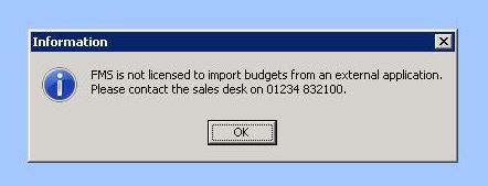 FMS budget error