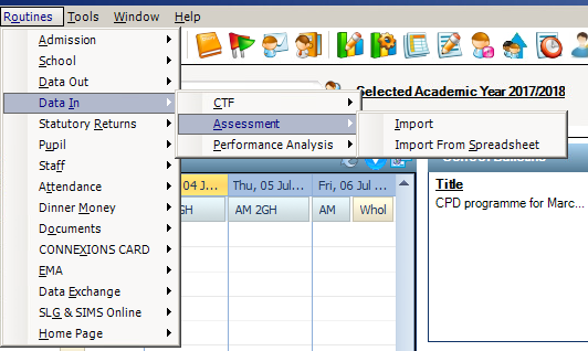 Exporting/Importing Key Stage marksheets to Excel and
